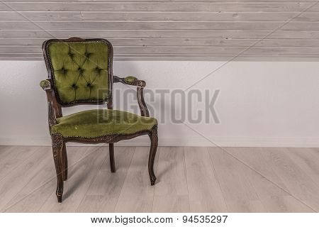 Green Chair In Victorian Design