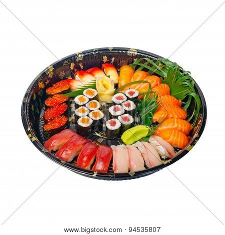 Take Away Sushi Express On Plastic Tray