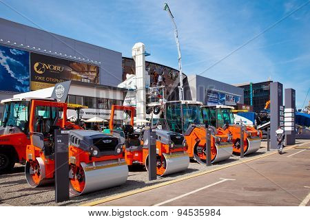 International Exhibition Of Construction Equipment And Technologies In Moscow, Russia
