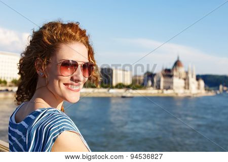 Woman Tourist at Budapest