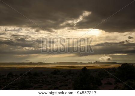 Storm Clouds On The Canyonlands National Park
