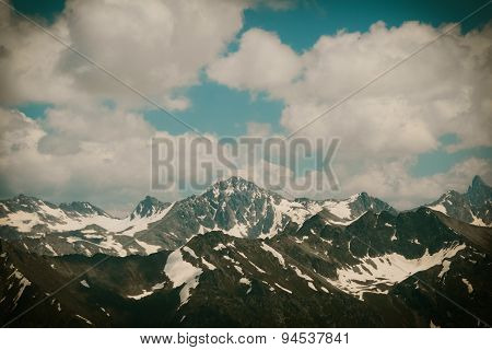 Mountain Landscape With Clouds.