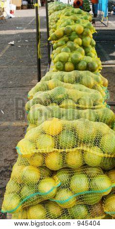 Fila de naranja