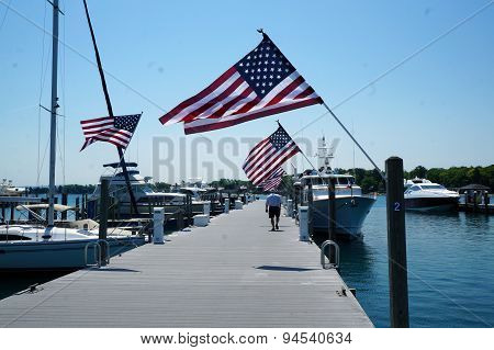 Flags on the Dock
