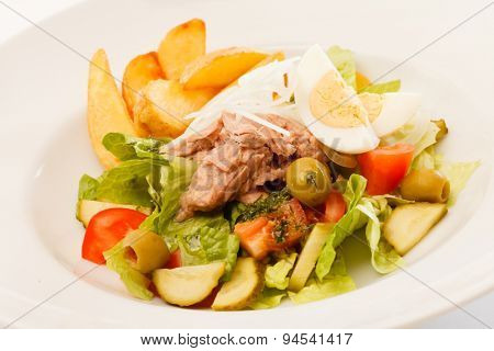 fresh salad with potatoes