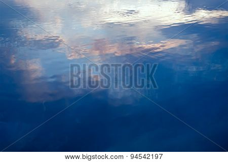 Water Surface. Abstraction For Relaxation