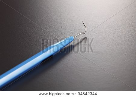 Basic dentist tools isolated on gray