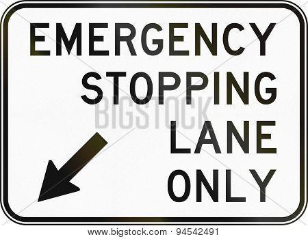 Emergency Stopping Lane In Australia