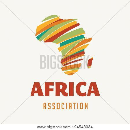Africa map illustration