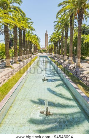 Fountain in park, Taurodant, Morocco