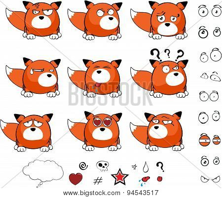fox baby ball cartoon set