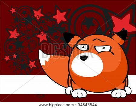 sweet fox baby ball cartoon background