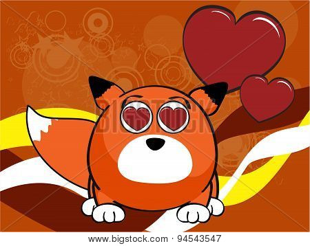 inlove fox baby ball cartoon background