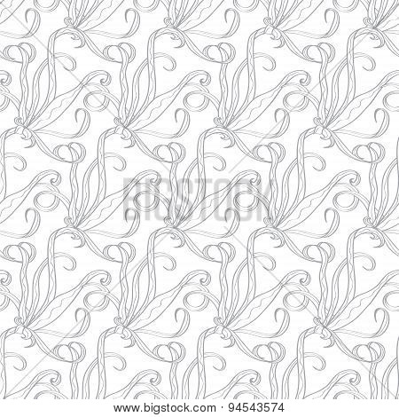 Vector Abstract Swirl Organic Texture-Stock Seamless Pattern