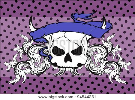 skull tattoo background