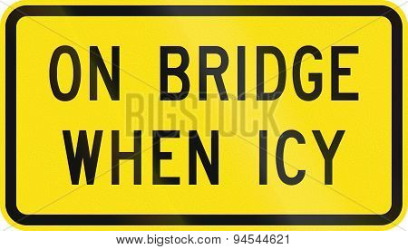 On Bridge When Icy In Australia