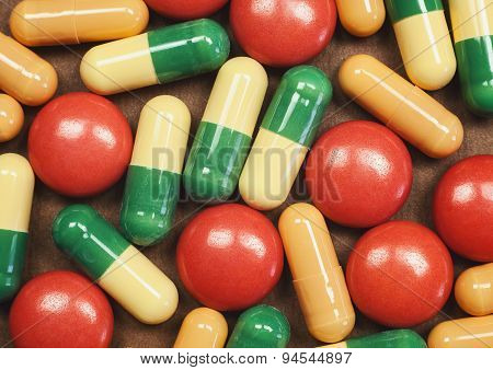 Pills And Tablets Macro