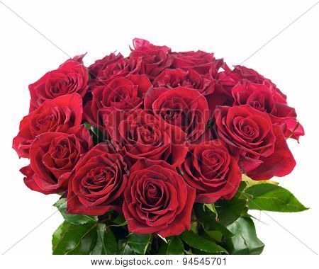 Colorful Flower Bouquet From Red Roses.