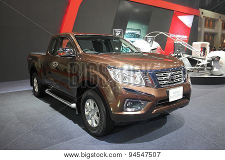 Bangkok - June 24 : Nissan Navara Np3000 Car On Display At Bangkok International Auto Salon 2015 On