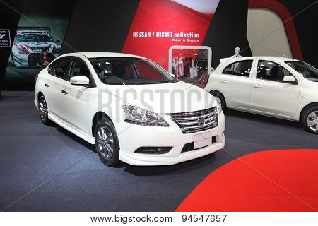 Bangkok - June 24 : Nissan Sylphy Car On Display At Bangkok International Auto Salon 2015 On June 24