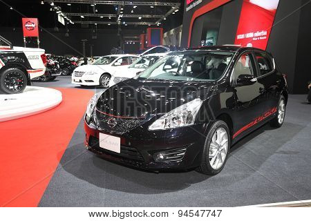 Bangkok - June 24 : Nissan Pulsar Car On Display At Bangkok International Auto Salon 2015 On June 24
