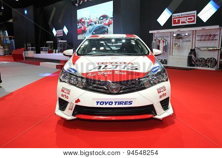 Bangkok - June 24 : Toyota Altis With Modify Set With Trd Car On Display At Bangkok International Au