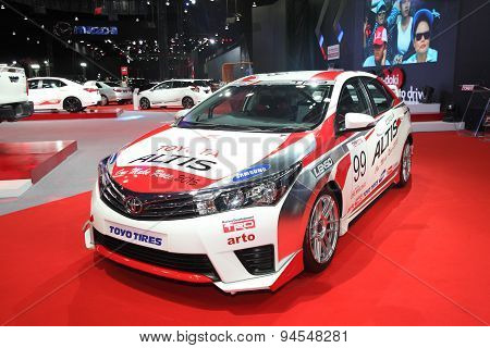 Bangkok - June 24 : Toyota Altis With Modify Set Car On Display At Bangkok International Auto Salon
