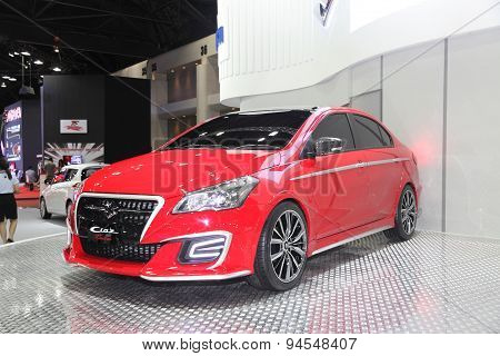 Bangkok - June 24 : Zoom Suzuki Ciaz Car On Display At Bangkok International Auto Salon 2015 On June