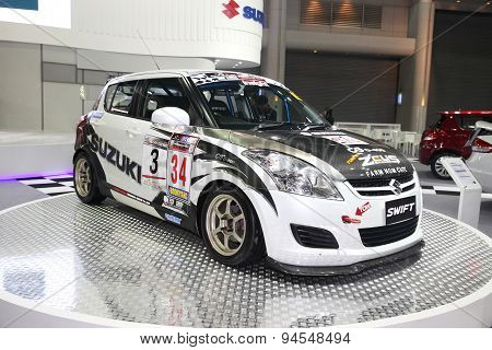 Bangkok - June 24 : Suzuki Swift Car On Display At Bangkok International Auto Salon 2015 On June 24,
