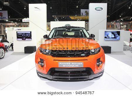 Bangkok - June 24 : Range Rover Evoque Car  On Display At Bangkok International Auto Salon 2015 On J