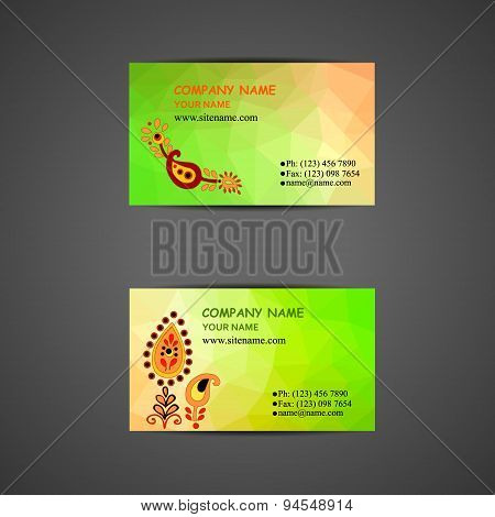 set of business card templates with doodle logo