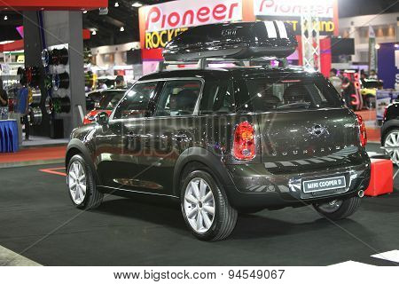 Bangkok - June 24 : Back Of Mini Countryman Car On Display At Bangkok International Auto Salon 2015