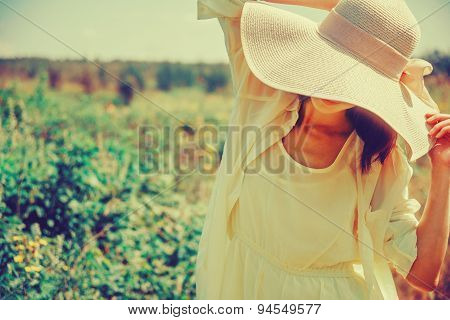 Fashionable Woman In A Hat