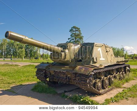 Heavy self-propelled artillery ISU-152, USSR, 1944