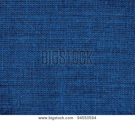 Dark cerulean burlap texture background