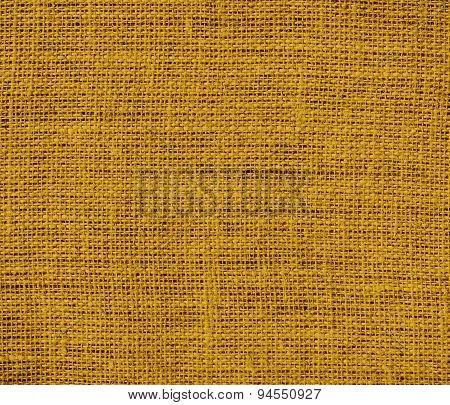 Dark goldenrod burlap texture background