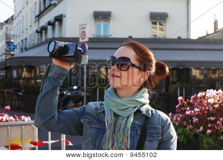 Girl In The Street Paris