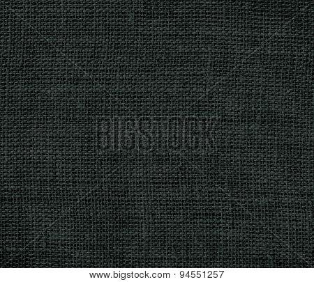 Dark jungle green burlap texture background