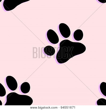 Dog paw zoo pattern for animal and textile