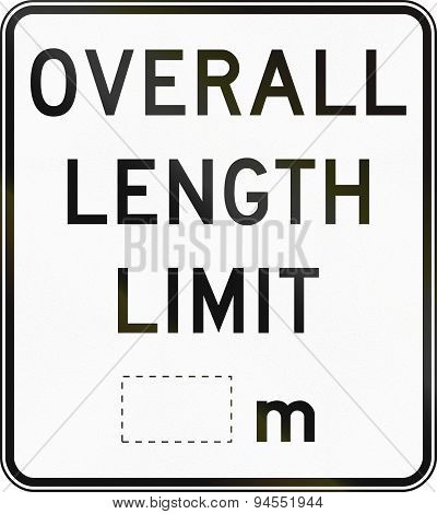 Length Limit In Australia