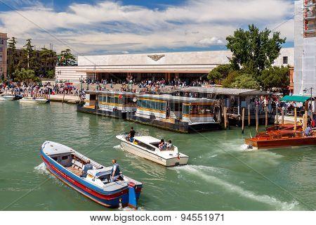Train Station In Venice.