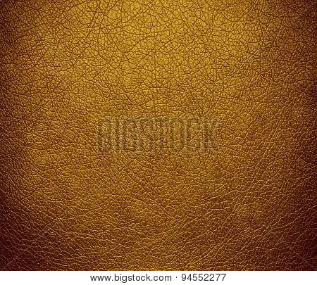Dark goldenrod leather texture background
