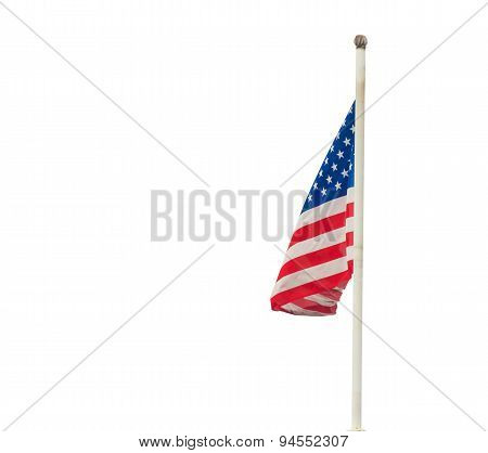 America Flag Isolated