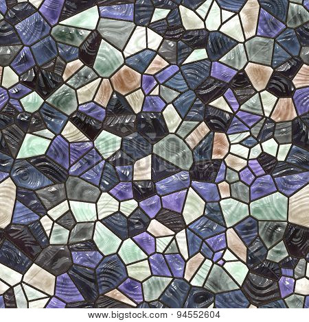 Glass Mosaic Seamless Generated Texture
