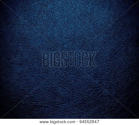 Dark imperial blue leather texture background