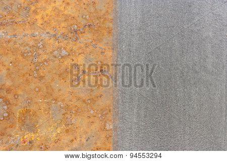 half rust half clean