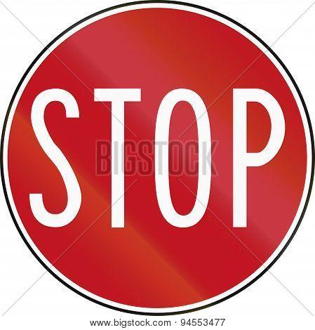 Stop Sign In Australia