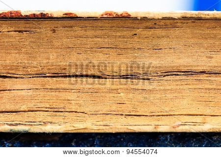macro view of an old thick book depicting finer gap between paper sheets
