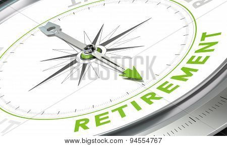 Retirement Plan, Concept Compass Image