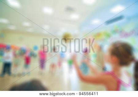 Kids activity animation blur background